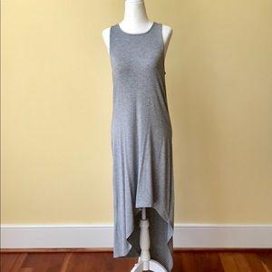 NWT Love Fire Maxi Hi-Lo Gray Tank Dress